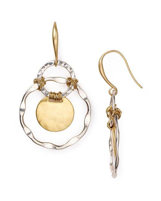 Robert Lee Morris | Metallic Two Tone Orbital Earrings | Lyst