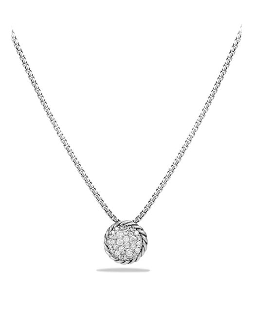 David Yurman | Metallic Châtelaine Pavé Pendant Necklace With Diamonds | Lyst