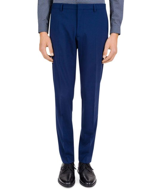 The Kooples - Blue Light Tailor Slim Fit Trousers for Men - Lyst