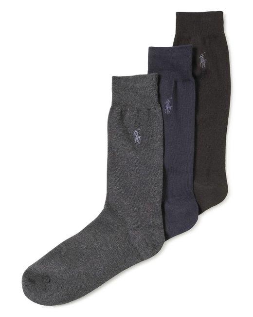 Polo Ralph Lauren   Black Men's Knit Socks for Men   Lyst