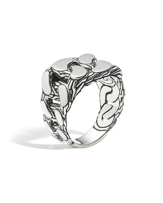 John Hardy   Metallic Men's Sterling Silver Classic Chain Gourmette Ring for Men   Lyst