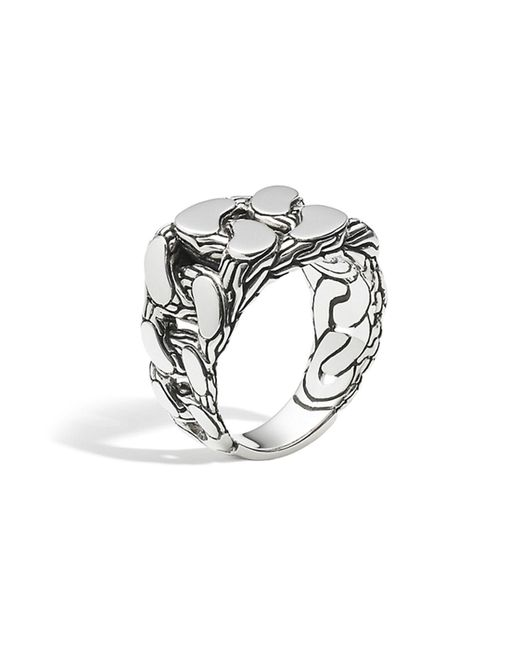 John Hardy | Metallic Men's Sterling Silver Classic Chain Gourmette Ring for Men | Lyst