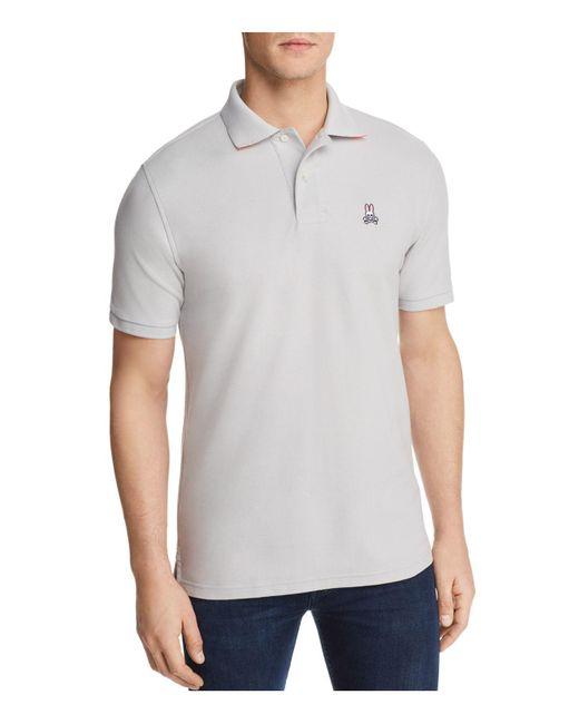 Psycho Bunny - Gray Neon Anniversary Polo Shirt for Men - Lyst