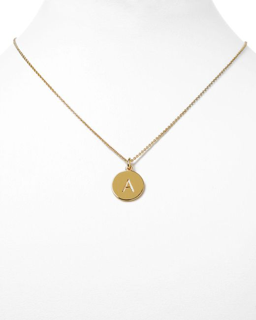 """kate spade new york   Metallic One In A Million Initial Pendant Necklace, 18""""   Lyst"""