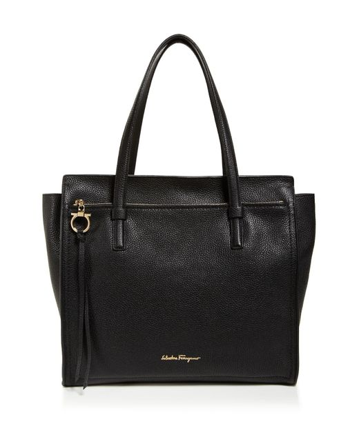 Ferragamo | Black Amy Large Tote | Lyst