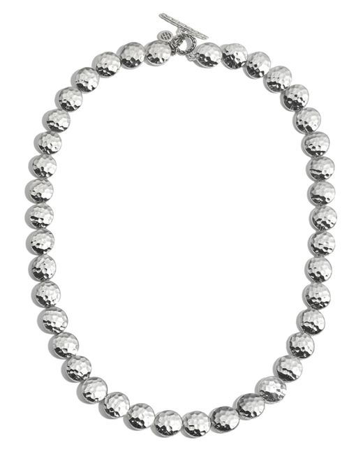 John Hardy | Metallic Sterling Silver Palu Disc Necklace, 18"