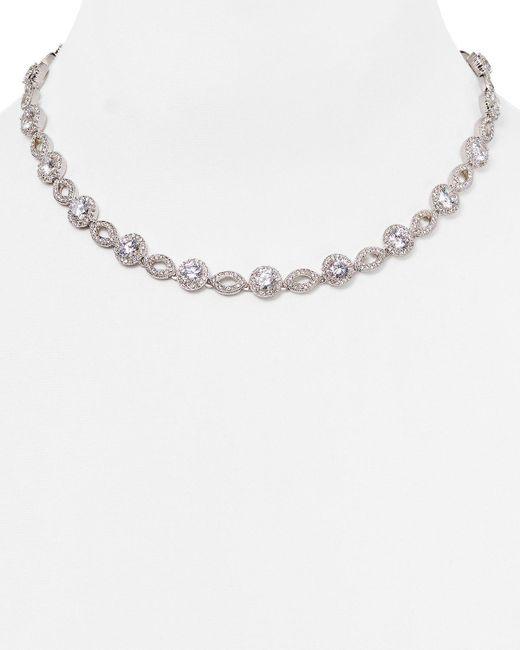 "Nadri | Metallic All Around Strand Necklace, 16"" | Lyst"