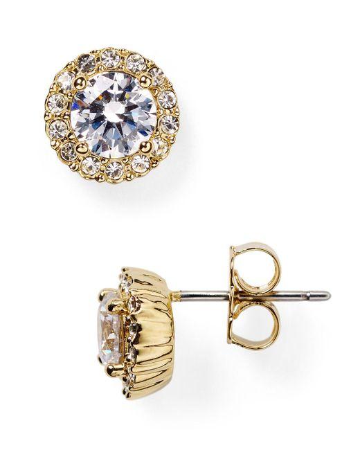 Nadri | Metallic Sterling Pave Stud Earrings | Lyst