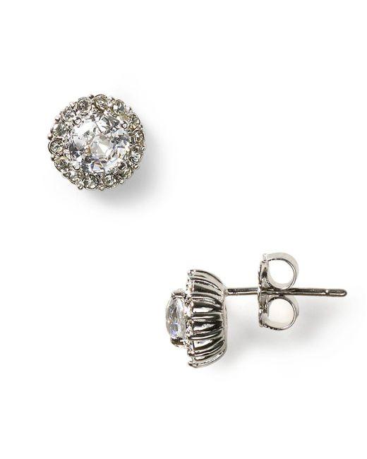 Nadri   Metallic Sterling Pave Stud Earrings   Lyst