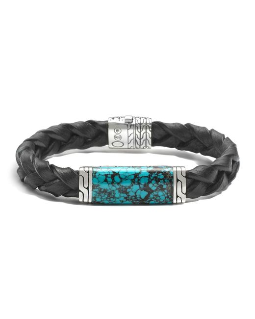 John Hardy | Blue Men's Sterling Silver Classic Chain Station Bracelet With Turquoise for Men | Lyst