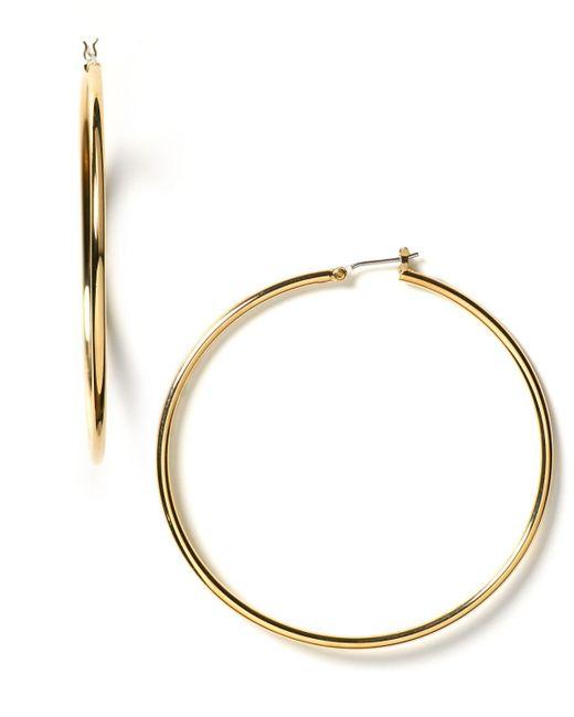 Pink Pony | Metallic Lauren Gold Hoop Earrings | Lyst