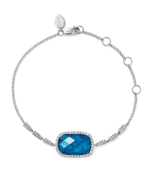 Meira T - Blue 14k White Gold Chrysocolla Doublet And Diamond Bracelet - Lyst
