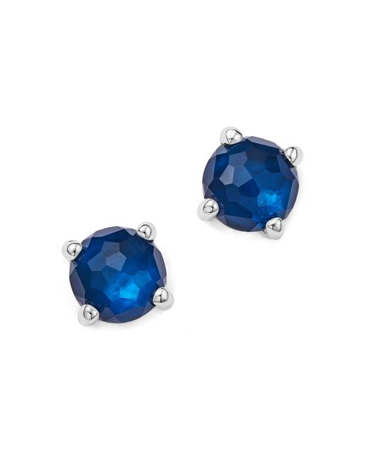 Ippolita | Blue Rock Candy Mini Stud Earrings In Midnight | Lyst