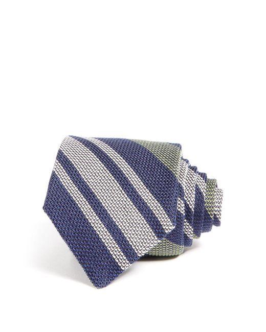 Eidos | Blue Striped Classic Tie for Men | Lyst