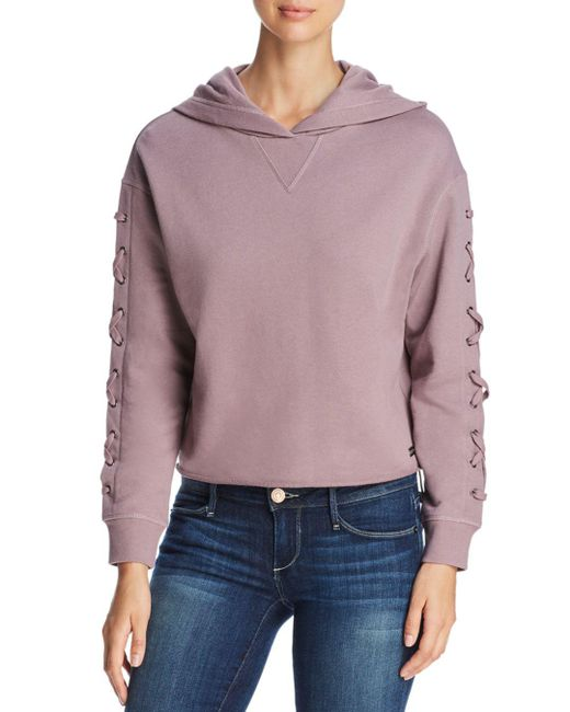 Nyc Performance: Marc New York Performance Lace-up Cropped Hoodie