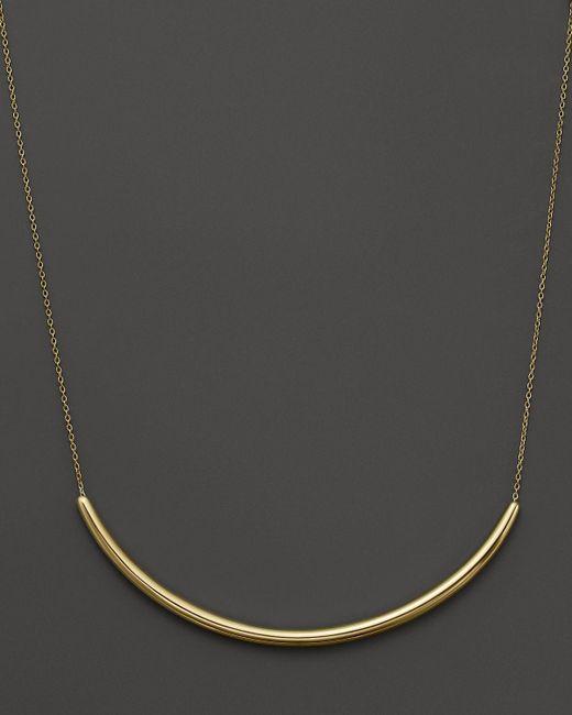 "Ippolita | Metallic 18k Yellow Gold Glamazon Long Curve Bar Necklace, 18"" | Lyst"