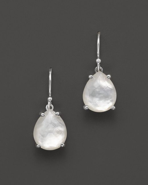 Ippolita | White Sterling Silver & Mother-of-pearl Rock Candy Pear Drop Earrings | Lyst