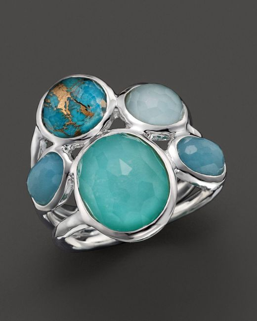 Ippolita | Sterling Silver Wonderland 5-stone Ring In Blue Multi | Lyst