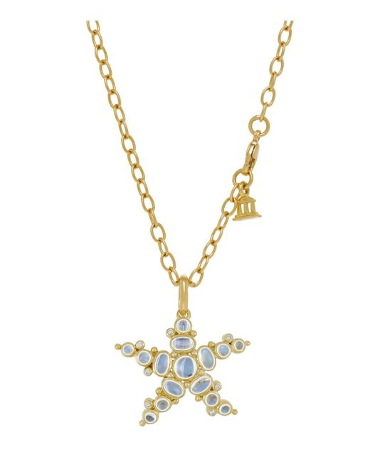 Temple St. Clair   18k Yellow Gold Medium Sea Star Pendant With Royal Blue Moonstone And Diamonds   Lyst