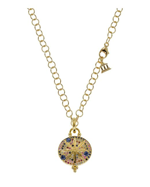 Temple St. Clair | Metallic 18k Yellow Gold Sorcerer Pendant With Mixed Sapphires | Lyst