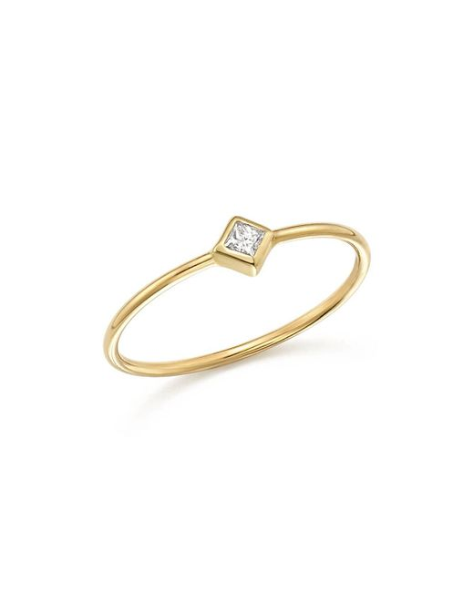Zoe Chicco | Metallic 14k Yellow Gold Bezel Ring With Diamonds | Lyst