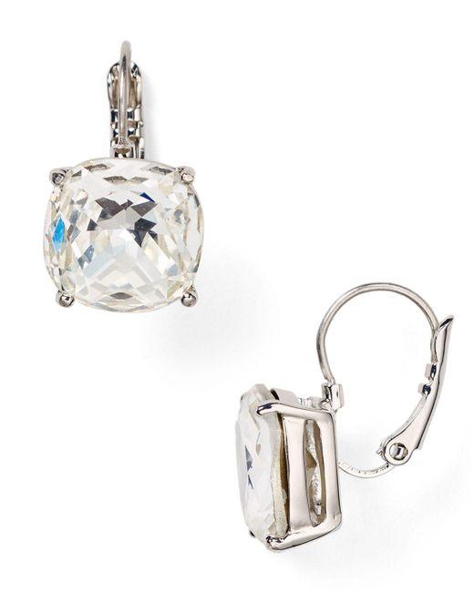 kate spade new york   Metallic Square Leverback Earrings   Lyst