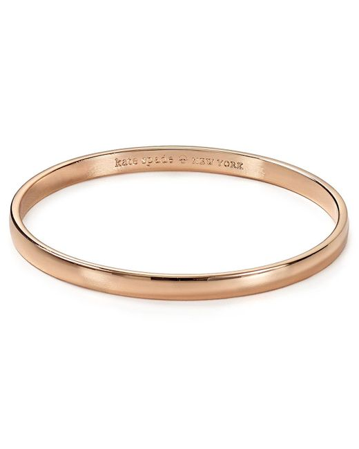 kate spade new york | Pink Stop And Smell The Roses Idiom Bangle | Lyst