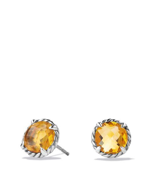 David Yurman | Yellow Châtelaine Earrings With Citrine | Lyst