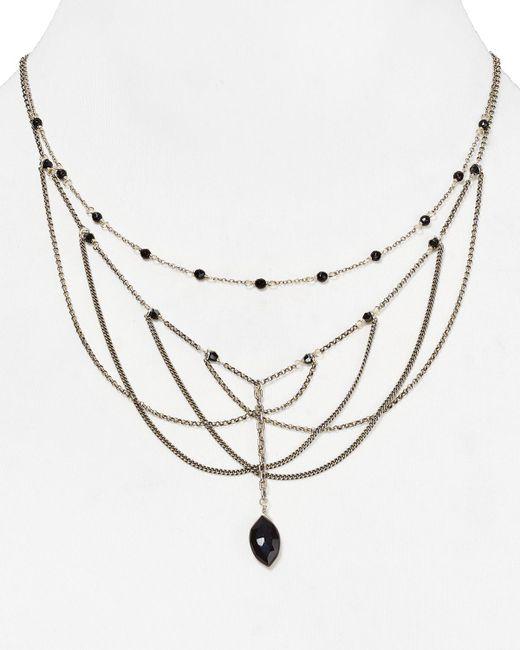 "Chan Luu   Black Multi Strand Necklace, 16.75""   Lyst"