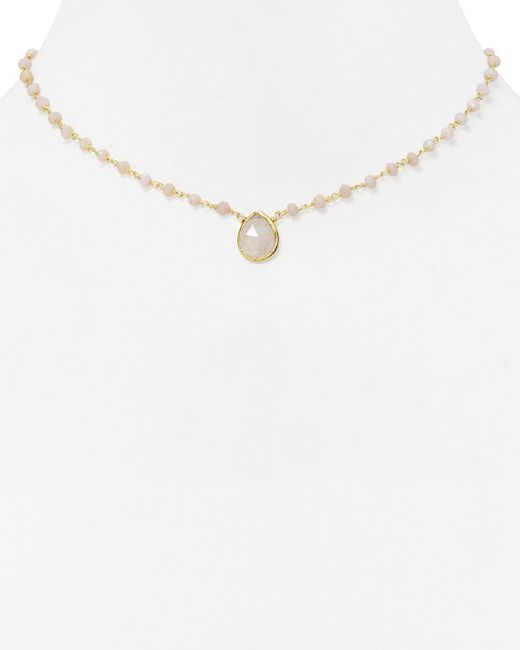 Ela Rae | Pink Beaded Opal Necklace, 14"