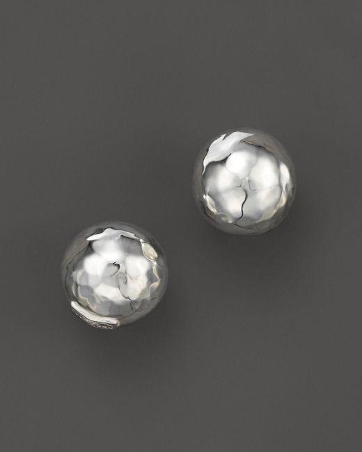 Ippolita | Metallic Glamazon Sterling Silver Hammered Ball Stud Earrings | Lyst