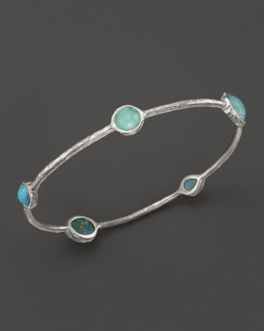 Ippolita | Blue Rock Candy Sterling Silver Wonderland 5-stone Bangle | Lyst