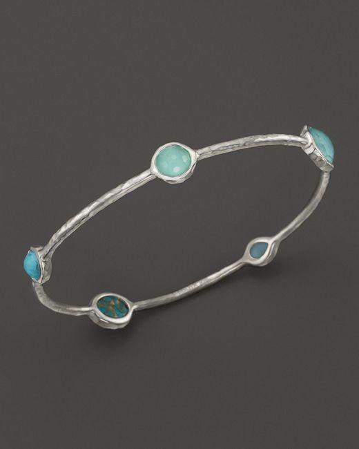 Ippolita   Blue Rock Candy Sterling Silver Wonderland 5-stone Bangle   Lyst