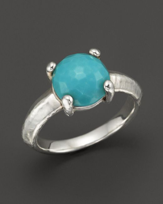 Ippolita | Blue Rock Candy Sterling Silver Single Stone Prong Knife Edge Ring In Turquoise | Lyst