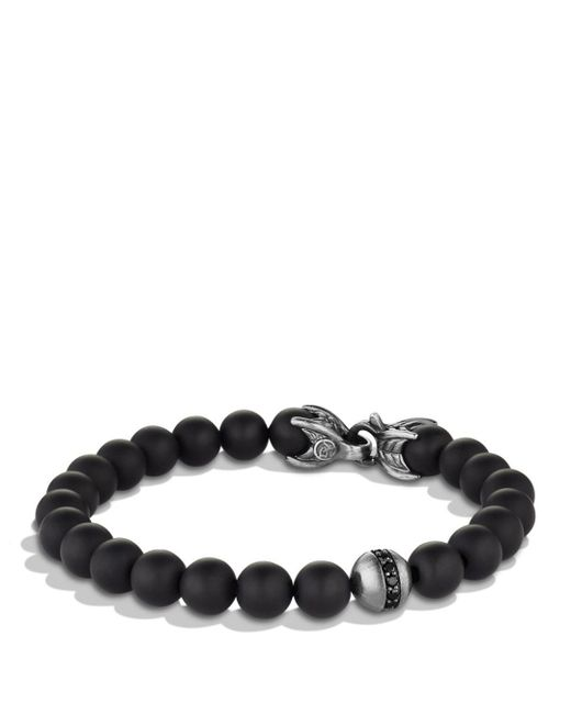 David Yurman - Metallic Spiritual Beads Bracelet With Black Onyx & Black Diamonds for Men - Lyst
