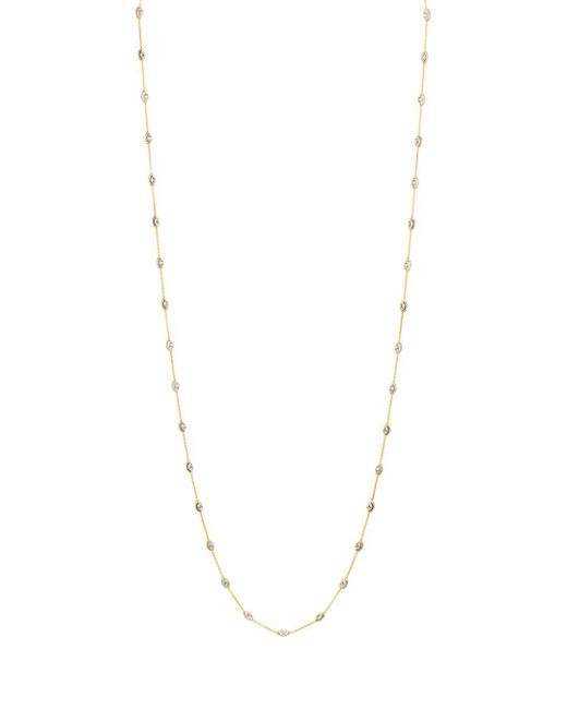 "Officina Bernardi - Metallic Beaded Necklace, 36"" - Lyst"