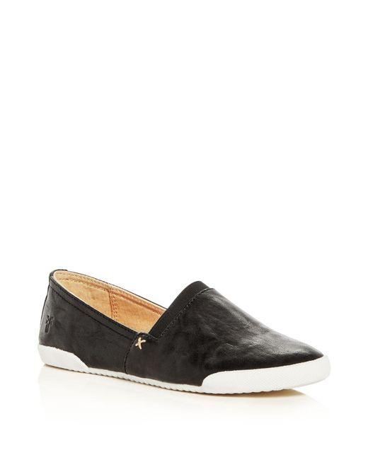 Frye | Black Slip-on Flats - Melanie | Lyst