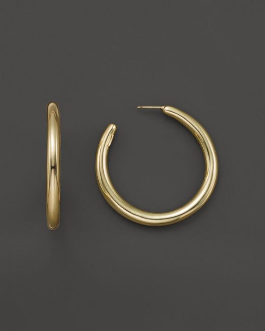 Ippolita | Metallic Glamazon 18k Gold #3 Smooth Gold Hoops | Lyst
