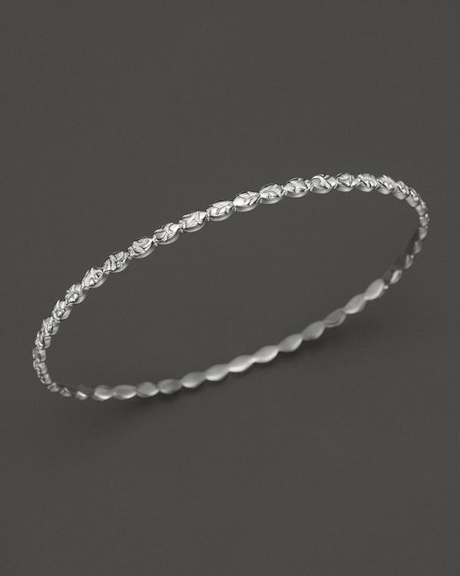 Ippolita | Metallic Lollipop Sterling Silver Textured Bangle | Lyst