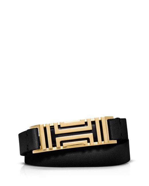 Tory Burch | Black For Fitbit Double Wrap Bracelet | Lyst
