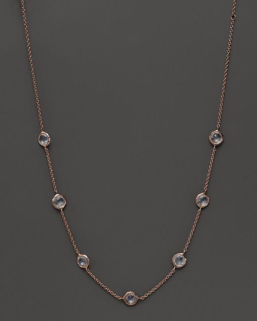 Ippolita | White Rock Candy Rose Seven-stone Lollipop Necklace, 16"