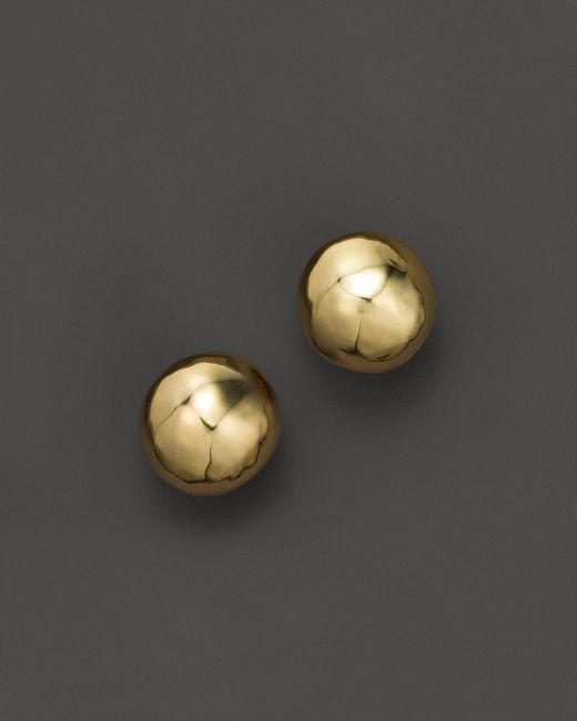 Ippolita | Metallic Glamazon 18k Gold Hammered Ball Stud Earrings | Lyst