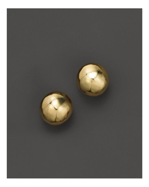 Ippolita | Metallic Glamazon 18k Gold Hammered Ball Stud Earrings | Lyst