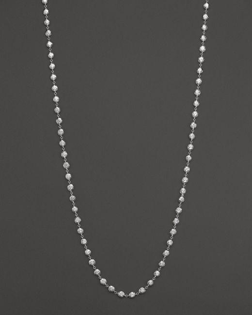 "Ippolita | Metallic Glamazon Sterling Silver Flat Hammered Bead Necklace, 40"" | Lyst"