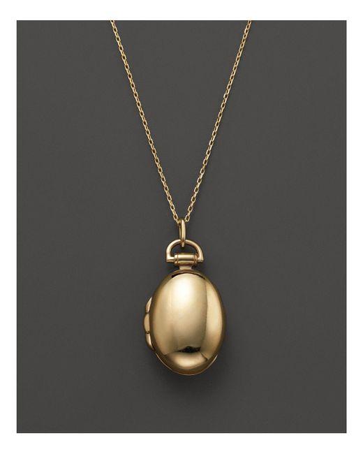 "Monica Rich Kosann | Metallic 18k Yellow Gold Anna Locket Necklace, 17"" | Lyst"