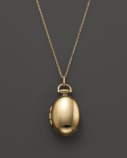 Monica Rich Kosann | Metallic 18k Yellow Gold Anna Locket Necklace, 17"