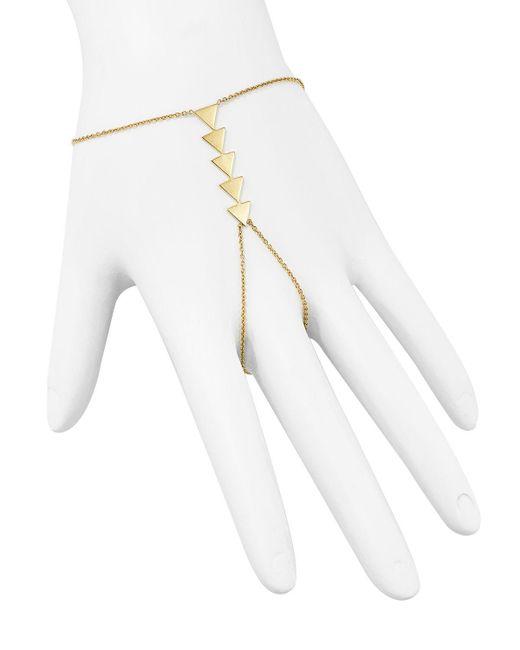 Zoe Chicco | Metallic 14k Yellow Gold Five Triangle Hand Chain | Lyst