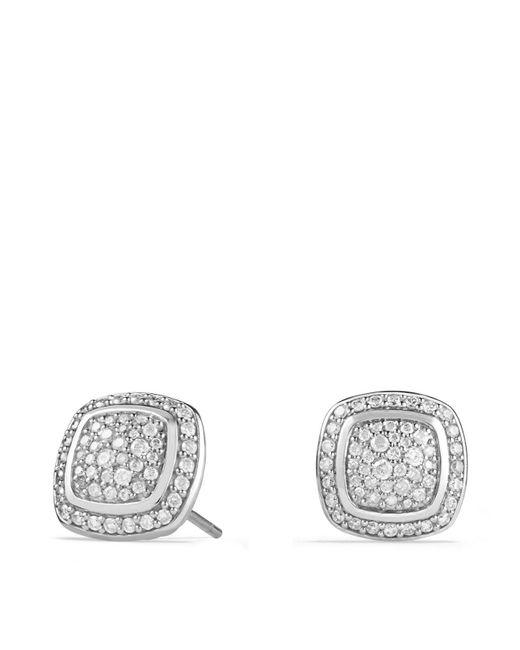 David Yurman | White Albion Earrings With Diamonds | Lyst