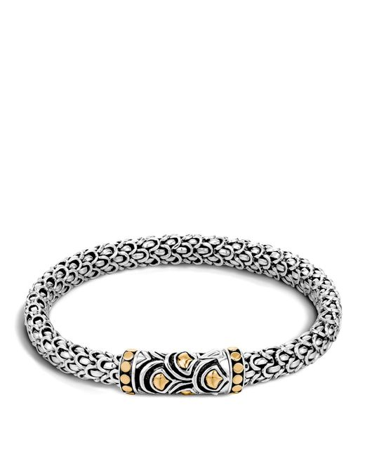 John Hardy | Metallic Sterling Silver And 18k Bonded Gold Naga Chain Bracelet | Lyst
