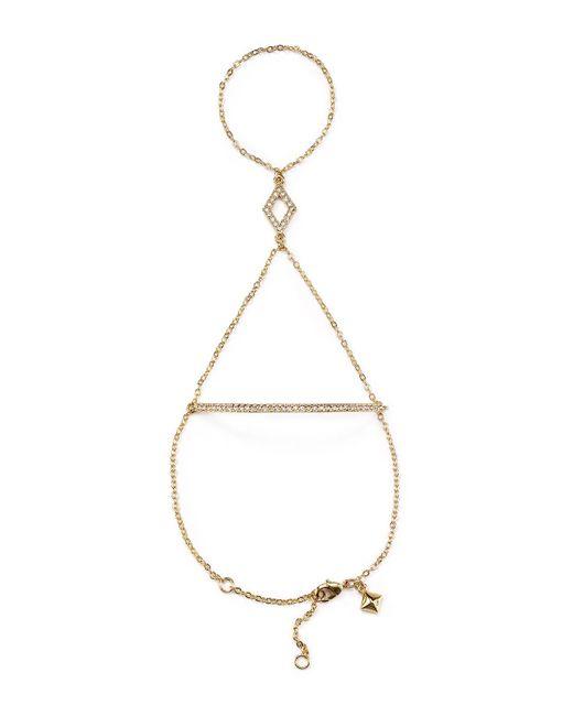 Rebecca Minkoff | Metallic Pavé Hand Chain Bracelet | Lyst